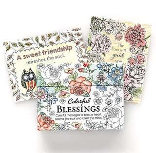 ~IN STOCK~ BN Colorful Blessings: 44 Cards to Colour and Share