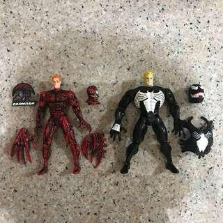 "Vintage 5"" Carnage & Venom (Spider-Man Animated Series Spiderman Classics SMC Marvel Legends Monster BAF Legends)"
