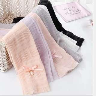 Instock Ladies Arm Sleeve Cotton Pearls Elegant UV Protection Outdoor Sports