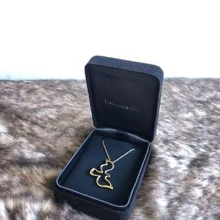 Tiffany 18K 金 和平鴿 項鍊