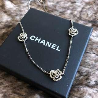 Chanel 山茶花 水鑽項鍊