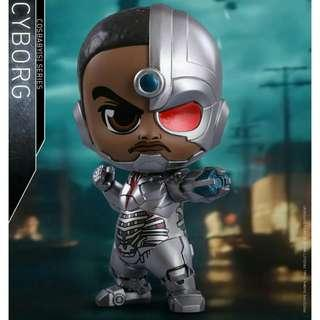 MISB Hot Toys Cosbaby Cyborg Justice League
