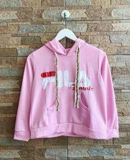 crop hoodie fila pink
