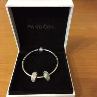 Pandora Limited Edition Star Bangle with charms