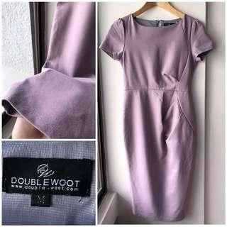 Doublewoot suede feel midi lilac dress