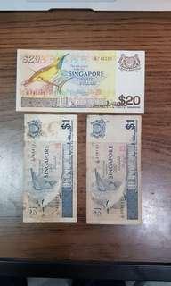 Bird series $20 + $1 + $1