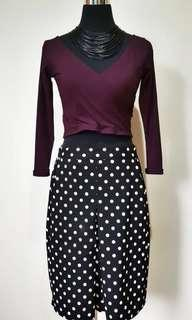 BUNDLE SKIRT AND CROPPED LONGSLEEVE (2)