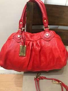 Authentic Marc by Marc Jacobs Classic Q Baby Groovee Large Leather Satchel Bag