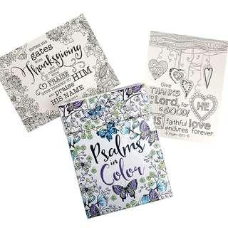 ~IN STOCK~ BN Psalms in Color: 44 Cards to Colour and Share ~ Christian Art Gifts