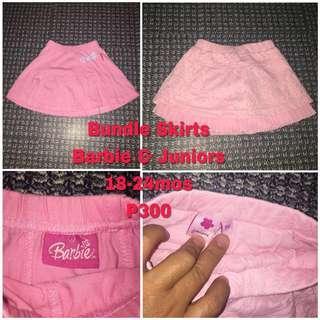 Barbie & Juniors Pink Skirts 18-24mos