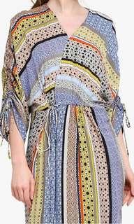 Lubna drawstrings wrap dress