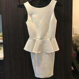Petite Neoprene Peplum Dress