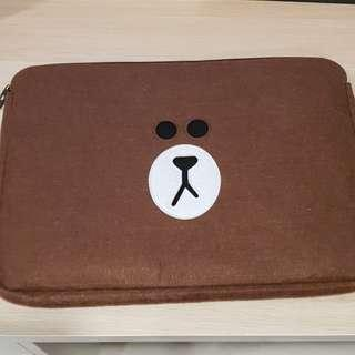 BN Line Brown Laptop Case