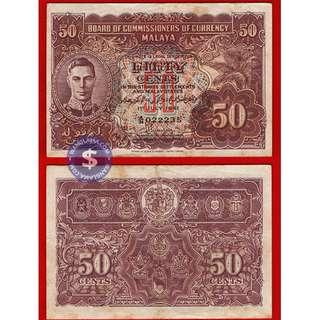 1941 Malaya 50 cents King George VI (A34 022235)