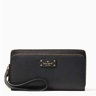 Sales! Instock! Authentic Kate Spade Grove Street Anita Leather Wallet Wristlet WLRU2818