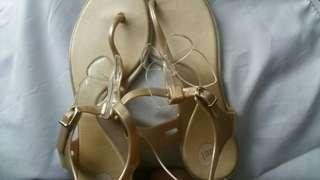 Mel by Melissa gold butterfly sandals