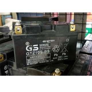 🚚 (二手中古電池) GS GTZ10S-二手機車電池 10號 噴射125機車專用 數值漂亮,品項優