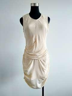 Maurie and eve nude silk dress size 8