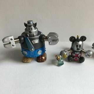 Disney人物 扭旦 兩隻 (Pete & Mickey 冤家) 散賣