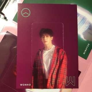 Monsta X The Connect Preorder PO Benefit Wonho Large Photocard