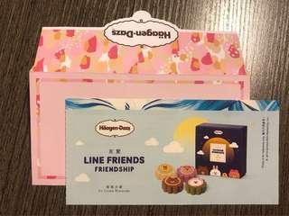 Haagen-Dazs Line Friends ice-cream mooncake