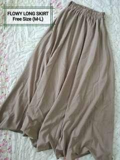 Flowy Long Skirt (light taupe) #MMAR18