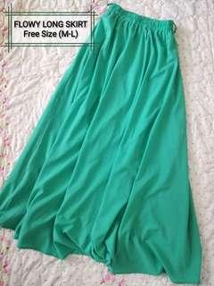 Flowy long skirt (green) #MMAR18