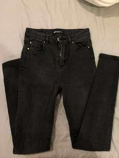 Black high waisted/ mid rise jeans