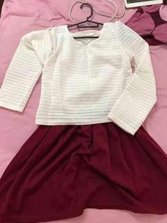 High Tea Cute Dress Two piece #MidSep50