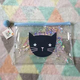 KMART Cat Vinyl Pencil/Makeup Case