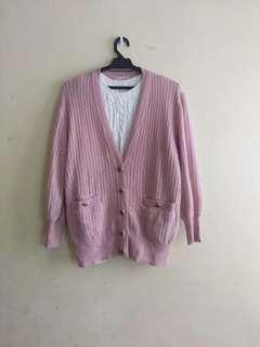 Pinky Knit Cardigan (not incl white knit)