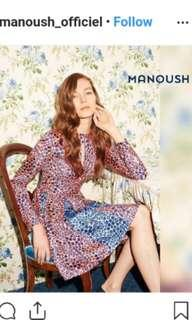 authentic manoush silk floral dress