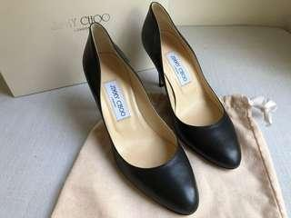 Jimmy Choo Romy 60 Black Leather Pumps