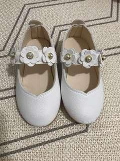 12cm Baby girl white dress Shoes