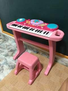 Kids Piano/ girls piano toy with stool