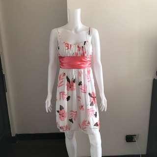 Pink floral dress M