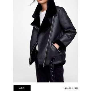 ZARA fur leather jacket biker coat maje sandro max mara french connection club monaco lane crawford joyce tom ford 外國超型款重工全fur內裡皮褸 大褸 外套 襯衫