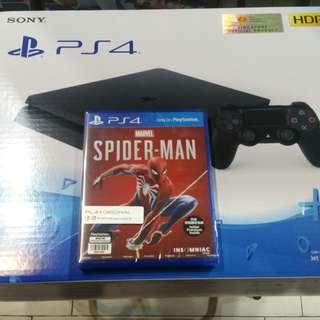 PS4 Slim with Spiderman!