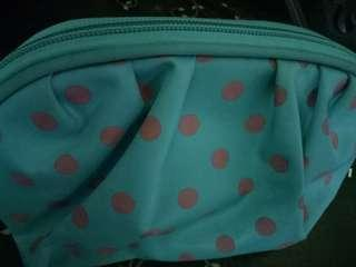 Polka Dotted Pouch with Handle