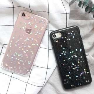 🚚 PO: 📱Holographic Hearts Soft Phone Case