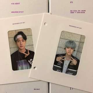 WTT bts memories of 2017 blu ray photocard