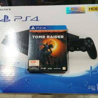 PS4 Slim with Shadow of the Tomb Raider