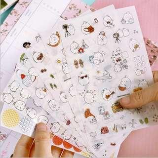 Molang Lifestyle Scrapbook / Planner Stickers #221