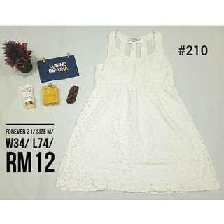 Forever 21 White Dress #210