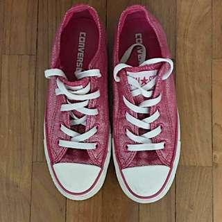 Converse shimmering pink sneakers 36.5