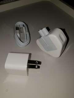 Apple Accessories (Mix of 2 to 3 pin laptop/USB adaptor)