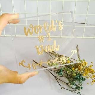 Customisable plaque stand anniversary wedding birthday gifts gifts present presents Boyfriend Girlfriend Father Mother colleague farewell colleagues customised wedding personalised calligraphy embossed birthday Friend friends props reception table deco