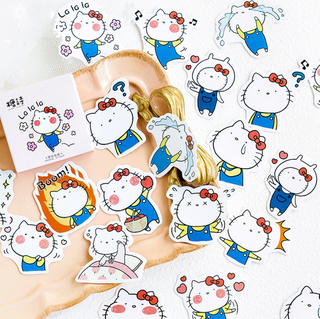 Daily Kitty Scrapbook / Planner Stickers #223
