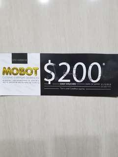 Mobot $200 cash voucher