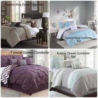 Brand New Comforter/ Duvet/Coverlet Sets in King and Queen sizes $100 each set